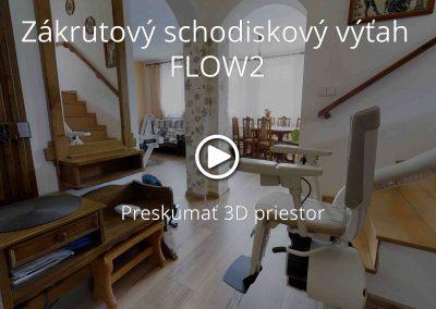 Zákrutový schodiskový výťah FLOW2
