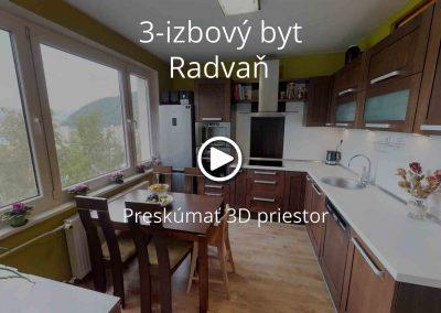 Byt Radvaň – 3izbový