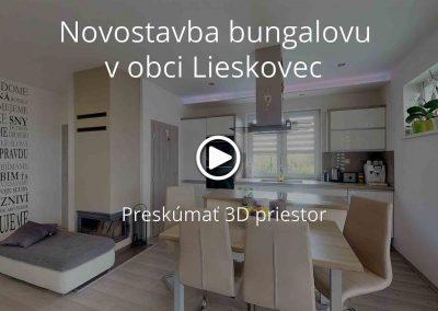 Novostavba bungalovu v obci Lieskovec