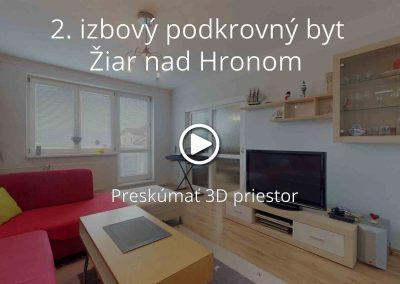 2. izbový podkrovný byt v meste Žiar nad Hronom