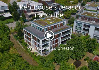 Penthouse s terasou a panoramatickým výhľadom na Kolibe